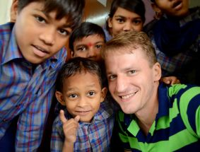 Oskars returned from India in September 2015, where he had spent 6 month as a volunteer working in Humana People to People India's educational program 'Academy for Working Children' in Jaipur.