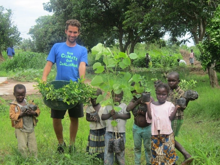 Tree-planting in Zambia during 2014